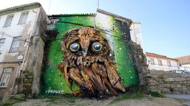 Seni Lukisan Binatang Menakjubkan Dan Kreatif Dari Bahan Sampah